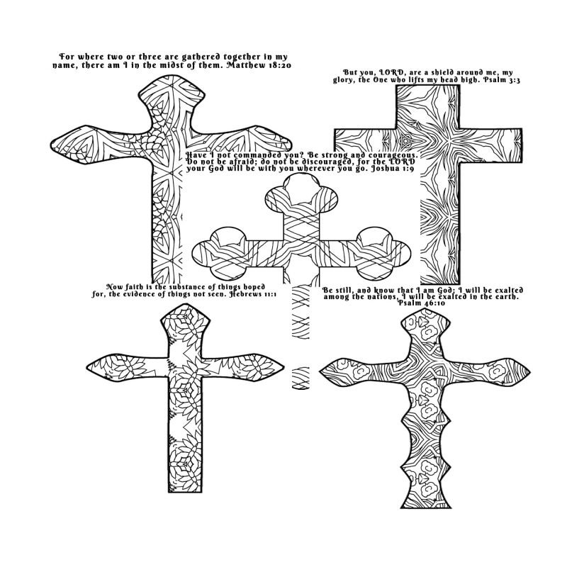 Give the ladies at your women's ministry retreat or small group a chance to quiet their minds and reflect on their hope in Christ with these ten intricately designed cross scripture coloring pages. Plus, your purchase gives you full rights to make as many copies as needed for as many group gatherings that you have.