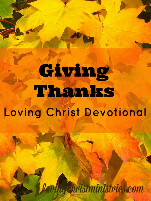 Giving Thanks - 1 Timothy 4:4 For everything created by God is good, and nothing is to be rejected if it is received with thanksgiving.