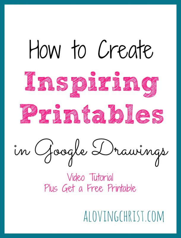 Did you know you can create inspiring printables in Google Drawings totally free? It's true. Design wall art or any printable in this free app from Google.