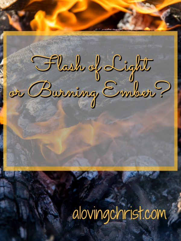 Are you the flash of light that interests and excites or the ember which provides long term warmth and comfort? Is one better? I used to think so.