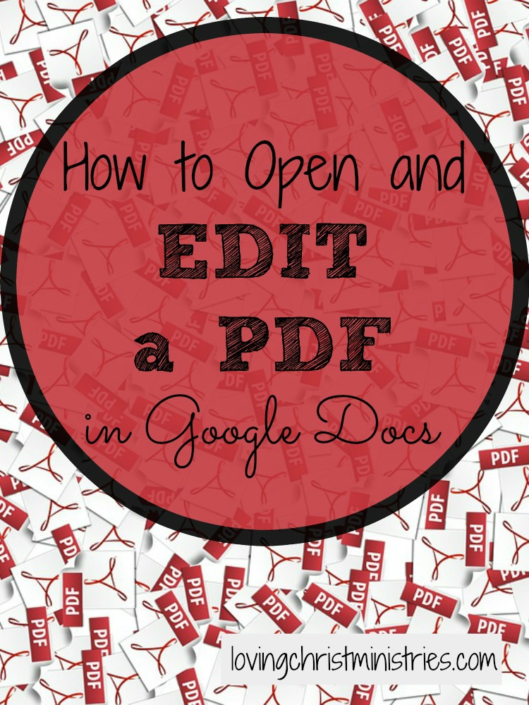 Have a PDF you want to make changes to but don't want to retype? Learn how to open and edit a PDF in Google Docs - FREE. Such a handy thing to know!
